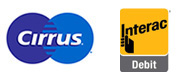 Cirrus and Interac logos give you worldwide access to your accounts